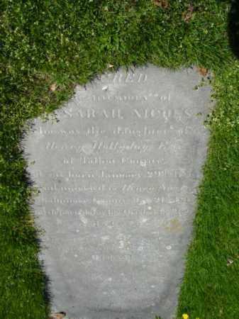 HOLLYDAY NICHOLS, SARAH F. - Talbot County, Maryland   SARAH F. HOLLYDAY NICHOLS - Maryland Gravestone Photos