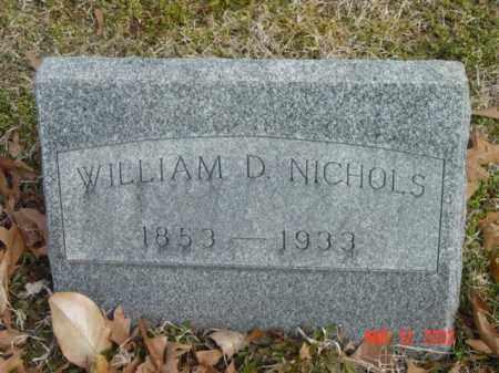 NICHOLS, WILLIAM D. - Talbot County, Maryland   WILLIAM D. NICHOLS - Maryland Gravestone Photos
