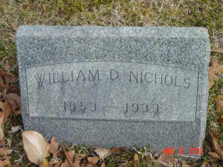 NICHOLS, WILLIAM D. - Talbot County, Maryland | WILLIAM D. NICHOLS - Maryland Gravestone Photos