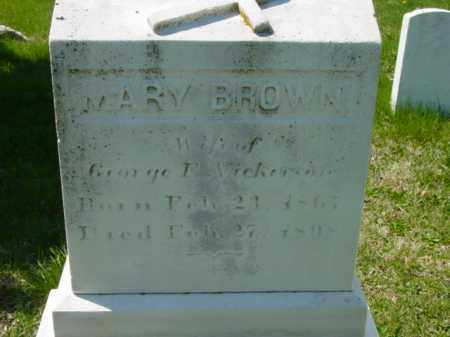 BROWN NICKERSON, MARY - Talbot County, Maryland   MARY BROWN NICKERSON - Maryland Gravestone Photos