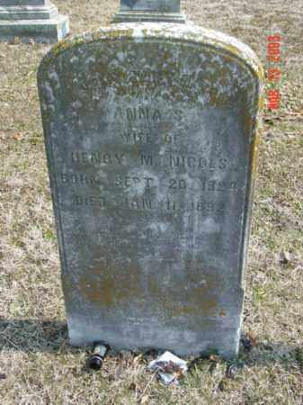 NICOLS, ANNA S. - Talbot County, Maryland | ANNA S. NICOLS - Maryland Gravestone Photos