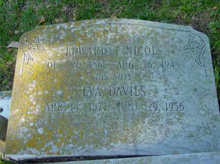 NICOLS, EDWARD T. - Talbot County, Maryland | EDWARD T. NICOLS - Maryland Gravestone Photos