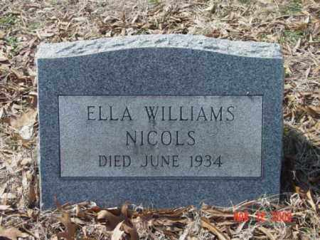 NICOLS, ELLA WILLIAMS - Talbot County, Maryland | ELLA WILLIAMS NICOLS - Maryland Gravestone Photos