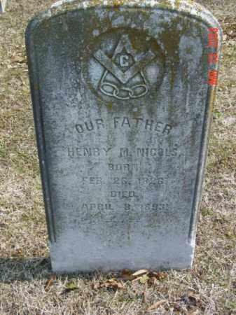NICOLS, HENRY M. - Talbot County, Maryland | HENRY M. NICOLS - Maryland Gravestone Photos