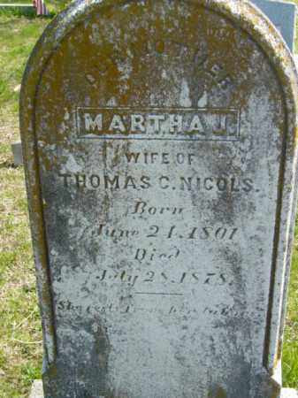NICOLS, MARTHA J. - Talbot County, Maryland | MARTHA J. NICOLS - Maryland Gravestone Photos