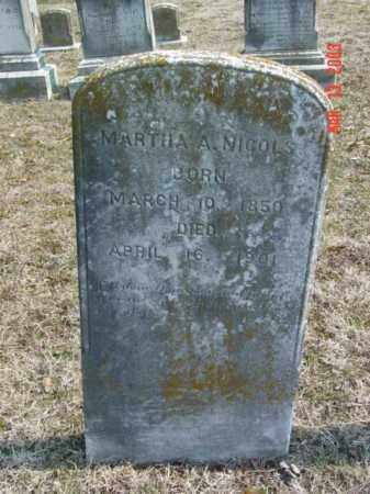 NICOLS, MARTHA A. - Talbot County, Maryland | MARTHA A. NICOLS - Maryland Gravestone Photos