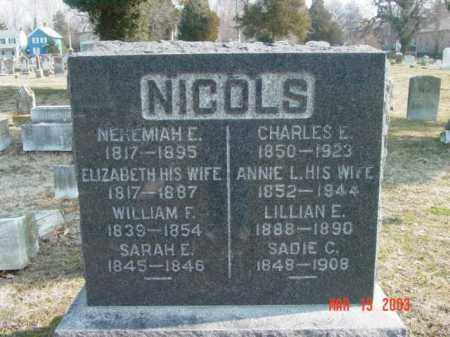 NICOLS, ELIZABETH - Talbot County, Maryland | ELIZABETH NICOLS - Maryland Gravestone Photos