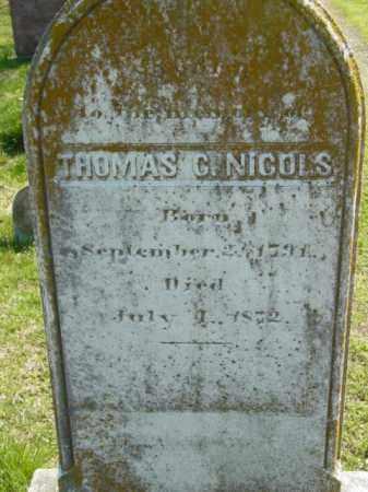C. NICOLS, THOMAS - Talbot County, Maryland | THOMAS C. NICOLS - Maryland Gravestone Photos