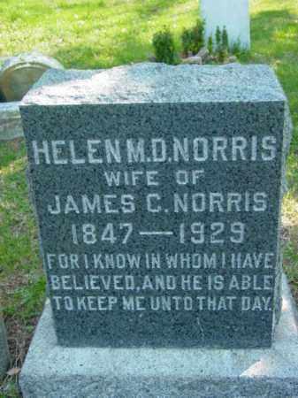 NORRIS, HELEN M. D. - Talbot County, Maryland   HELEN M. D. NORRIS - Maryland Gravestone Photos