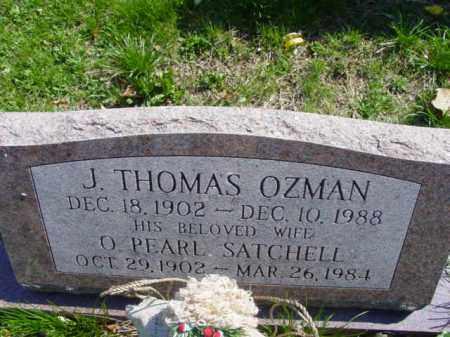 SATCHELL OZMAN, O. PEARL - Talbot County, Maryland   O. PEARL SATCHELL OZMAN - Maryland Gravestone Photos
