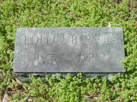 PAGE, ROLLIN B. - Talbot County, Maryland   ROLLIN B. PAGE - Maryland Gravestone Photos