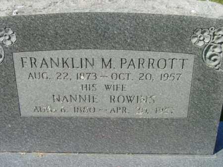 PARROTT, FRANKLIN M. - Talbot County, Maryland | FRANKLIN M. PARROTT - Maryland Gravestone Photos