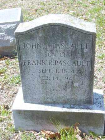 PASCAULT, JOHN L. - Talbot County, Maryland   JOHN L. PASCAULT - Maryland Gravestone Photos