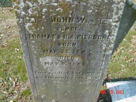 PIERSON, JOHN W. - Talbot County, Maryland | JOHN W. PIERSON - Maryland Gravestone Photos