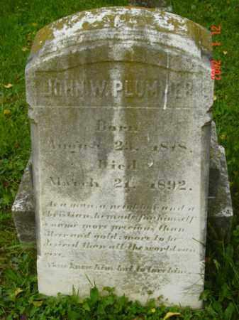 PLUMMER, JOHN W. - Talbot County, Maryland | JOHN W. PLUMMER - Maryland Gravestone Photos