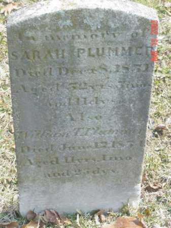 PLUMMER, SARAH - Talbot County, Maryland | SARAH PLUMMER - Maryland Gravestone Photos