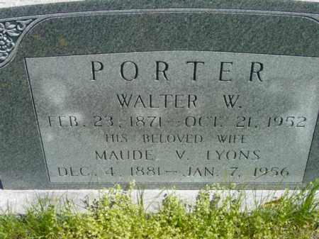 LYONS PORTER, MAUDE V. - Talbot County, Maryland   MAUDE V. LYONS PORTER - Maryland Gravestone Photos