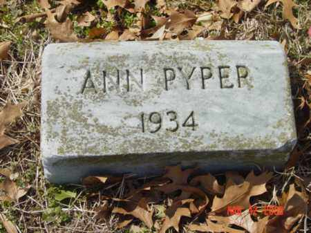 PYPER, ANN - Talbot County, Maryland | ANN PYPER - Maryland Gravestone Photos