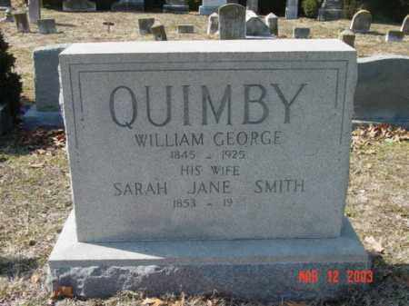 QUIMBY, WILLIAM GEORGE - Talbot County, Maryland | WILLIAM GEORGE QUIMBY - Maryland Gravestone Photos