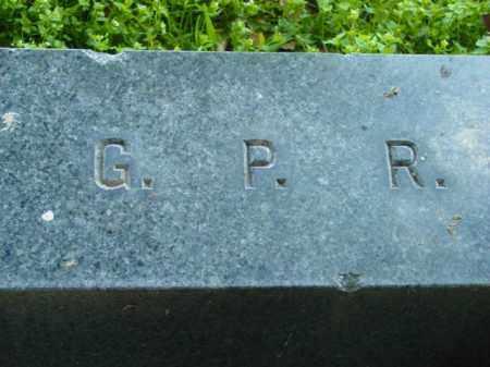 R., G.P. - Talbot County, Maryland | G.P. R. - Maryland Gravestone Photos