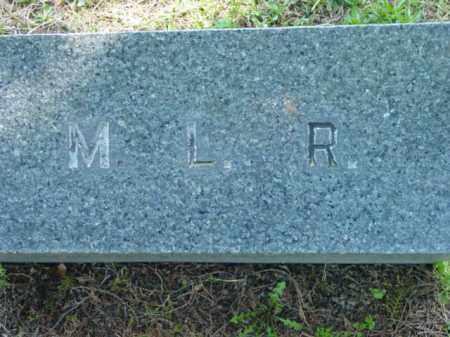 R., M. L. - Talbot County, Maryland   M. L. R. - Maryland Gravestone Photos