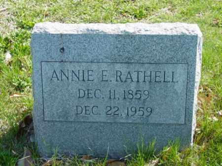 RATHELL, ANNIE E. - Talbot County, Maryland | ANNIE E. RATHELL - Maryland Gravestone Photos