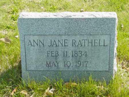 RATHELL, ANN JANE - Talbot County, Maryland | ANN JANE RATHELL - Maryland Gravestone Photos