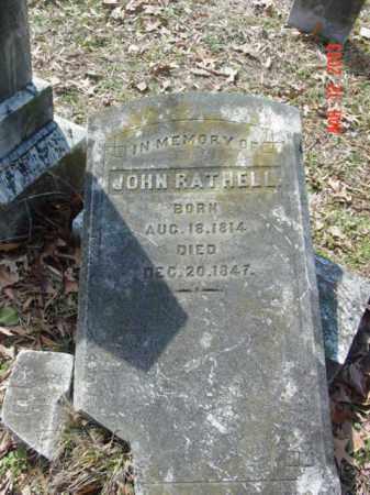 RATHELL, JOHN - Talbot County, Maryland | JOHN RATHELL - Maryland Gravestone Photos