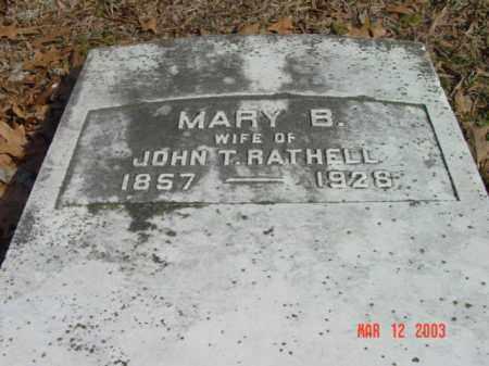 RATHELL, MARY B. - Talbot County, Maryland | MARY B. RATHELL - Maryland Gravestone Photos