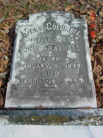 RATHELL, MARY COLUMBIA - Talbot County, Maryland | MARY COLUMBIA RATHELL - Maryland Gravestone Photos