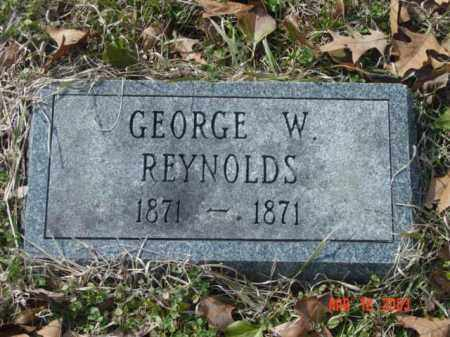 REYNOLDS, GEORGE W. - Talbot County, Maryland | GEORGE W. REYNOLDS - Maryland Gravestone Photos