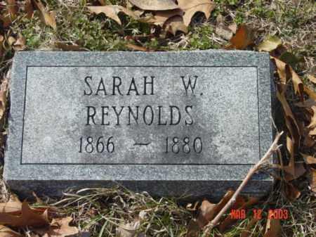 REYNOLDS, SARAH W. - Talbot County, Maryland | SARAH W. REYNOLDS - Maryland Gravestone Photos