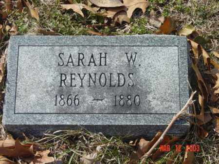 REYNOLDS, SARAH W. - Talbot County, Maryland | SARAH W. REYNOLDS - Maryland Gravestone Photos