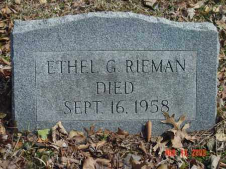 RIEMAN, ETHEL G. - Talbot County, Maryland | ETHEL G. RIEMAN - Maryland Gravestone Photos