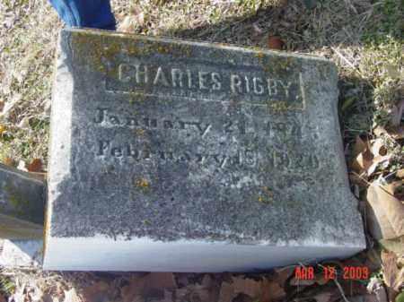 RIGBY, CHARLES - Talbot County, Maryland   CHARLES RIGBY - Maryland Gravestone Photos