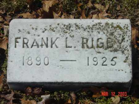 RIGBY, FRANK L. - Talbot County, Maryland   FRANK L. RIGBY - Maryland Gravestone Photos