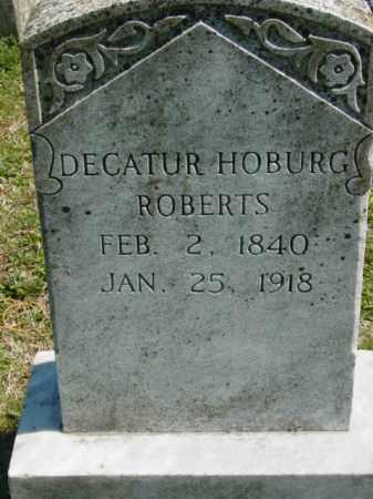 ROBERTS, DECATUR HOSBURG - Talbot County, Maryland | DECATUR HOSBURG ROBERTS - Maryland Gravestone Photos