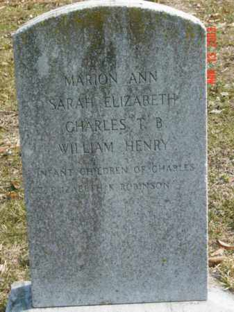 ROBINSON, WILLIAM HENRY - Talbot County, Maryland | WILLIAM HENRY ROBINSON - Maryland Gravestone Photos