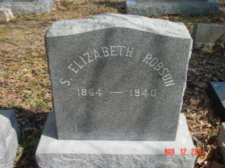 ROBSON, S. ELIZABETH - Talbot County, Maryland | S. ELIZABETH ROBSON - Maryland Gravestone Photos