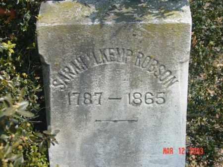 ROBSON, SARAH M. KEMP - Talbot County, Maryland   SARAH M. KEMP ROBSON - Maryland Gravestone Photos