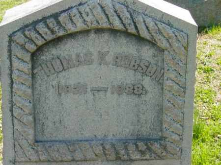 ROBSON, THOMAS K. - Talbot County, Maryland   THOMAS K. ROBSON - Maryland Gravestone Photos