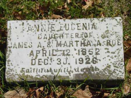 ROE, ANNIE EUGENIA - Talbot County, Maryland | ANNIE EUGENIA ROE - Maryland Gravestone Photos