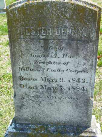 COOPER ROE, HESTER DENNY - Talbot County, Maryland | HESTER DENNY COOPER ROE - Maryland Gravestone Photos