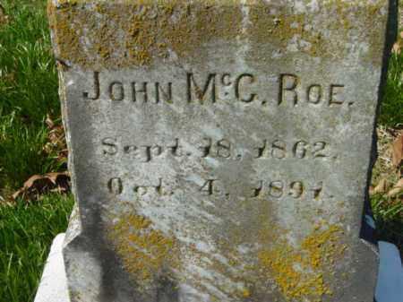 ROE, JOHN MCC. - Talbot County, Maryland   JOHN MCC. ROE - Maryland Gravestone Photos