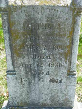 ROE, MARTHA A. - Talbot County, Maryland | MARTHA A. ROE - Maryland Gravestone Photos