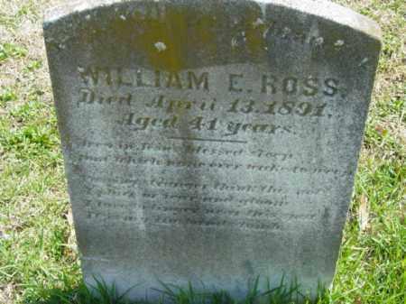 ROSS, WILLIAM E. - Talbot County, Maryland   WILLIAM E. ROSS - Maryland Gravestone Photos