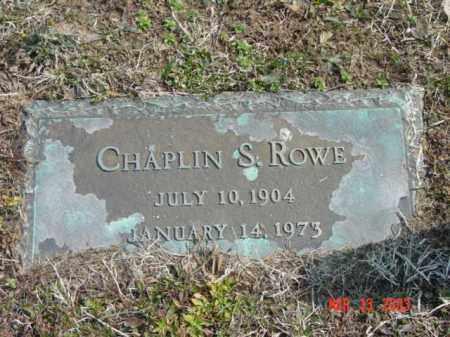 ROWE, CHAPLIN S. - Talbot County, Maryland   CHAPLIN S. ROWE - Maryland Gravestone Photos