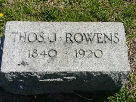 ROWENS, THOMAS J. - Talbot County, Maryland | THOMAS J. ROWENS - Maryland Gravestone Photos