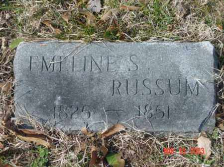 RUSSUM, EMELINE S. - Talbot County, Maryland | EMELINE S. RUSSUM - Maryland Gravestone Photos