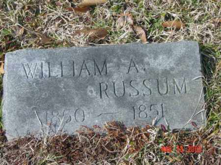 RUSSUM, WILLIAM A. - Talbot County, Maryland | WILLIAM A. RUSSUM - Maryland Gravestone Photos